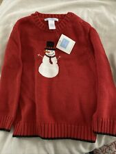 Nwt Janie and Jack Boys Snowman Red Holiday Christmas Knit Sweater 3T