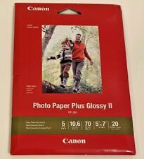 Canon Photo Paper Plus Glossy II 5x7 70 LBS 20 SHEETS