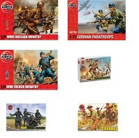 Airfix WWII Figures 1:72 Scale Model Kit Choice British, German or US