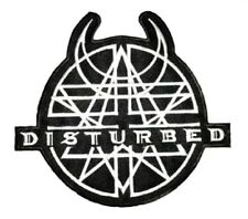 DISTURBED Heavy Metal Embroidered Iron On Sew On Shirt Badge Patch