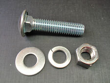 """1 pc Ford 7/16-14 x 2"""" stainless steel capped bumper bolt nut flat lock washers"""
