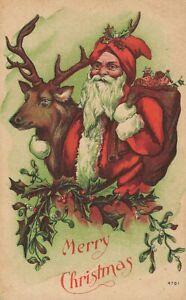 Merry Christmas - Santa Claus with reindeer - 04.25