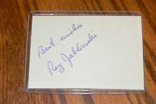 Ray Jablonski, Cardinals, Reds, Giants, Kansas City A'S signed Cut Autograph