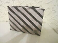 Dolce & Gabbana Dauphine Stampata Diagonal Stripes Men's Textured Leather Wallet
