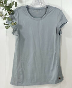 Alo Yoga Cool Fit Gray Short Sleeve Shirt Size Small? Please Check Measurements