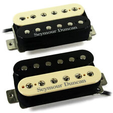 Seymour Duncan Pearly Gates Humbucker Guitar Pickup Set Black/Cream Zebra