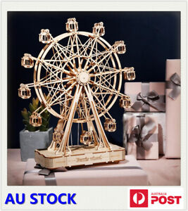 Modern 3D Laser Cutting Wooden Puzzle With Music - Gaint Ferris Wheel Assembly