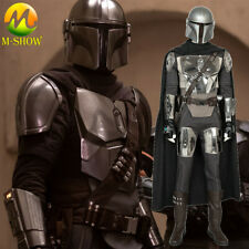 Star Wars The Mandalorian Cosplay Costume Vest Belt Halloween Outfit for Men