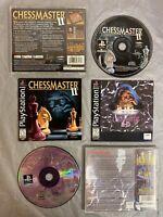 Chessmaster 3D + II 1 2 (Sony PlayStation 1, 1999) CHESS BUNDLE/LOT COMPLETE CIB