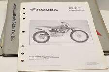 2004 CRF100F CRF100 F GENUINE Honda Factory SETUP INSTRUCTIONS PDI MANUAL S0261