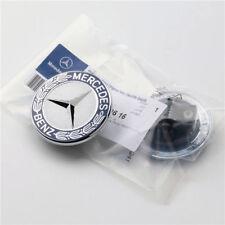 For Mercedes Benz Flat Mount Hood Emblem Badge Star Logo Bonnet 2108800186 Blue