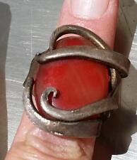 Fork Tines Holding Red Stone Bohemian Ring International Silver Flatware Artsy