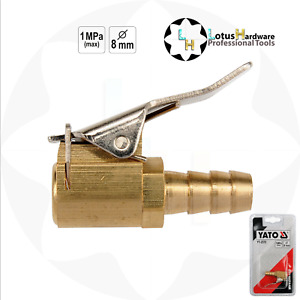 Tyre Valve Air Connector Car Truck Airline Inflator for 8mm Hose Brass lock Clip
