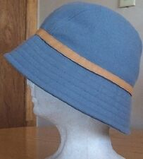 Gap S M S/M 100% Wool bucket cloche fedora rain snow winter windbreaker hat blue