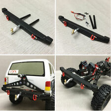 85g 1:10 Bumper W/ LED Lights Alloy Rear For TRAXXAS TRX-4 TRX4 Axial Scx10 Cars