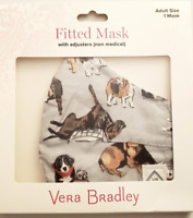 Vera Bradley Face Mask Best in Show Dogs Puppies Adjustable in Box RARE