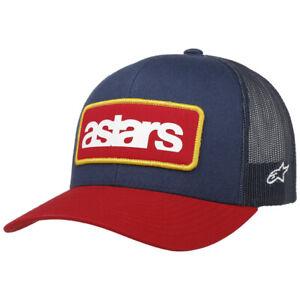 """ALPINESTARS MANIFEST TRUCKER MESH RED NAVY BLUE CAP HAT """"ONE SIZE FITS MOST"""""""