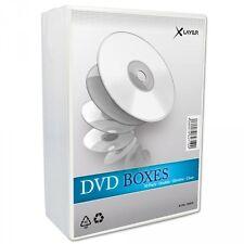 50 Xlayer DVD Hüllen Slim 7mm für 2 Disk clear Double Case transparent Leerhülle