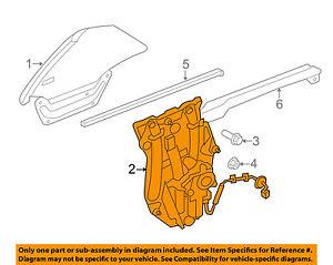 JAGUAR OEM 07-15 XK XKR Left Rear Quarter Window Regulator C2P24322