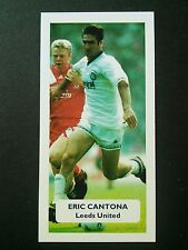 FRANCE - LEEDS UNITED - ERIC CANTONA - Score UK football trade card