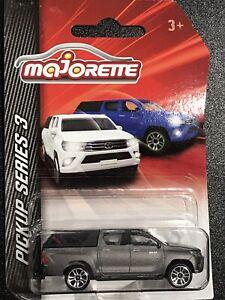 Majorette Pickup Series 3 Toyota Hilux Graphite