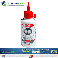 Singer Sewing Machine Oil 100ml Lubricant Domestic Industrial Lube Hinge Lock