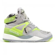 Reebok The Pump Certified Grey Yellow Basketball Shoes Sneakers M48371 Size 7-11