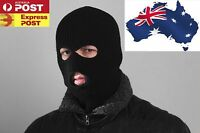 2 x Black 3 Holes Balaclava SAS Style Mask Neck Warmer Ski Hat Paintball Fishing
