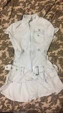 Dress Top Kera Punk Visual Kei Jrock Goth Emo Girls Button Up White Skull Collar