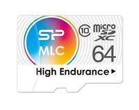 64GB Silicon Power High-Endurance microSDXC CL10 MLC Memory Card