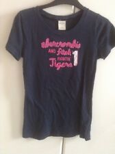 Abercrombie Kids T SHIRT Top Azul Marino Talla Xl (Abercrombie And Fitch) 100% algodón