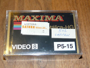 Maxima Video 8 P5-15 Leerkassette Videokassette neu in Folie, vintage video tape