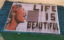 "Life Is Beautiful Graffiti Street Spray Art Poster Gift Banksy (unframed) 18x24"""