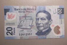 2008 Abr 28 Circulated Veinte Pesos $20 Banco De Mexico G Series S2612551 01