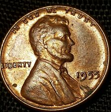 1955 DDO 002 LINCOLN WHEAT CENT, DIE VARIETY DOUBLE DIE LINCOLN WHEAT PENNY