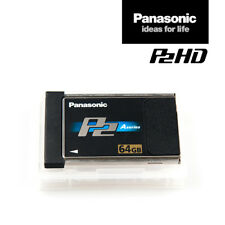 Tarjeta Panasonic AJ-P2C064AG | Tarjeta de memoria P2 de 64 GB negro serie | RNG DE IVA.