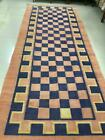 Antique Hand knotted Cotton Agra Jail Dhurrie