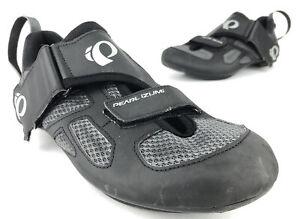 Pearl Izumi Tri Fly V Cycling Shoe Men's US 10 EU 44 Black Grey Hook And Loop