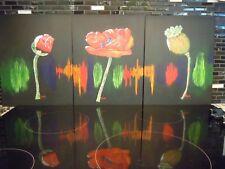 "Poppy Bud, Flower, Seed Head 11"" x 14"" Acrylic Canvas Board~The Life of a Poppy"