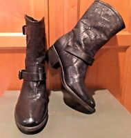 NEW UGG Italy Collection Conchetta Weave Leather Ankle Boots  Size 6.5 M