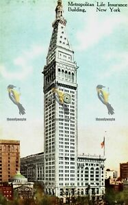 Metropolitan Life Insurance Building, New York, Success Post Card, Postcard