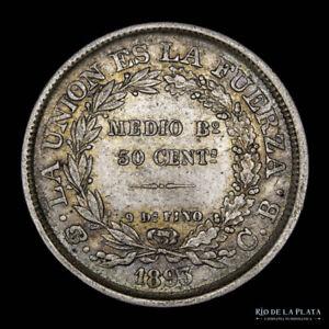 .: Bolivia 50 Centavos 1893 CB :.