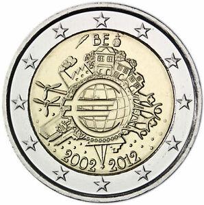 2 Euro Belgium 2012 * 10 Years of Euro Cash * Unc