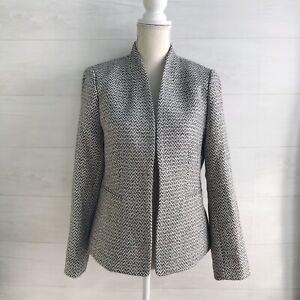 NWT J.Crew - Gray & pink herringbone tweed blazer, sz 10