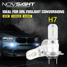 NOVSIGHT 2x 80W H7 LED Headlight Fog Tail Light Bulbs Kit Car DLR Daytime 1500LM