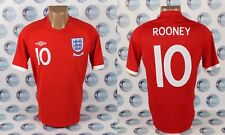 ENGLAND NATIONAL TEAM #10 ROONEY FOOTBALL SOCCER SHIRT JERSEY TRIKOT UMBRO 38