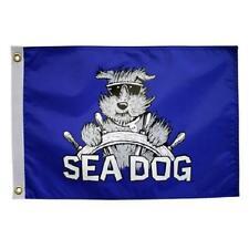 """Sea Dog 12X18"""" Boat Flag New Pirate Bark A Neers Blue"""