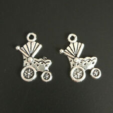 15pc Charms Baby carriage Pendant Beads Jewellery Making Tibetan Silver Wholesal