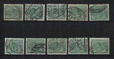 Berlin 56 Plattenfehler I-II, IV und VI-XII, komplett, gestempelt (B05624)