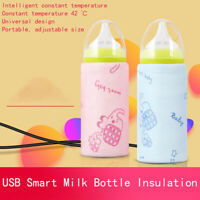 USB Milk Warmer Bottle Heated Cover Insulated Bag Baby Thermostat Food Heater